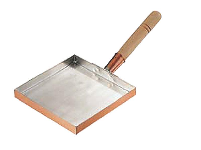 クーポンで23%OFF 卵焼き が ふんわり上手にできる 銅 製 玉子焼 器 『 関東型 薄焼き用 ( 21cm ) 』 プロ仕様 業務用 可 日本製 国産