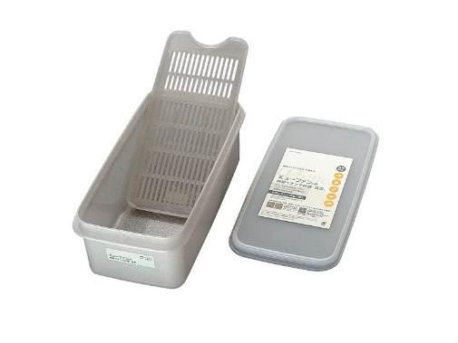 日本製 純銀イオン 鮮度を保つ 抗菌 保存容器 3.1L 10個 ※スノコ 付