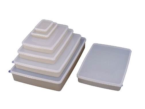 日本製 純銀イオン 鮮度を保つ 抗菌 保存容器 浅型 10L 10個