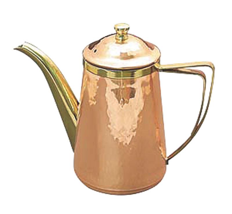 日本製 プロ仕様 熱伝導がよい 銅 槌目入 コーヒー ハンド ドリップ ポット 1500? 10人用