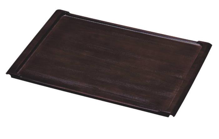 【本日限定クーポン配布中】 日本製 ワイド 高品質 スタイリッシュ 木製 おぼん 特大 トレー スペースが広く一度に大量に配膳できる 業務用 お盆 580×385mm