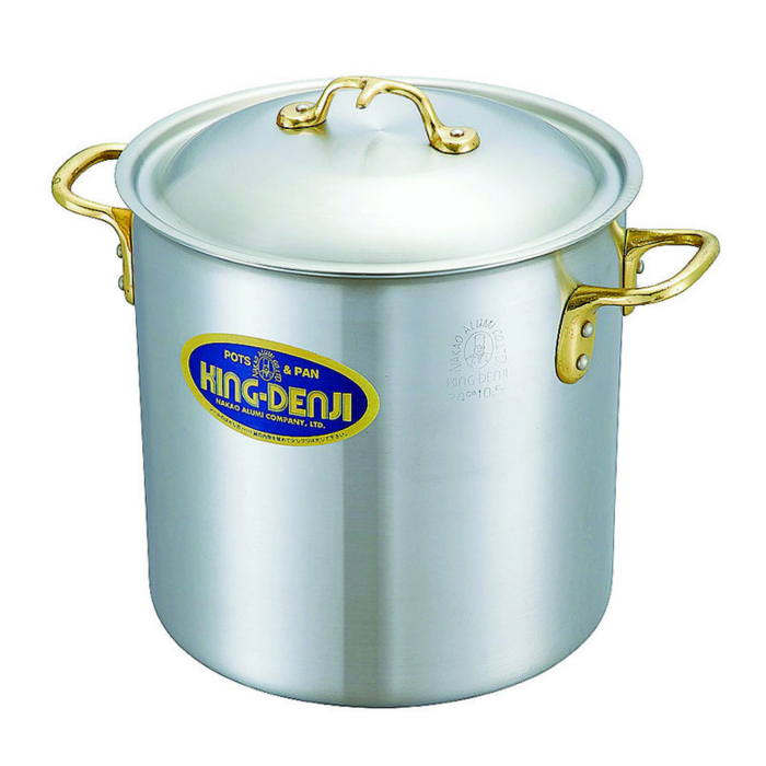 10%OFFクーポン有 寸胴鍋 真鍮 合金 製 取っ手 27cm(15.0L) IH ・ オール熱源 対応 目盛付 日本製 国産