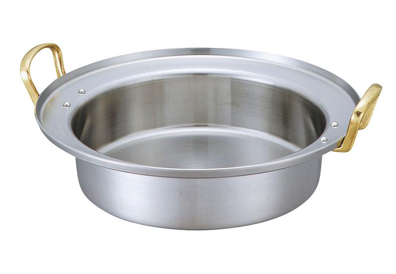 電磁調理器 用 すき焼き 鍋 浅型 39cm (4.4L)  IH ・ オール熱源 対応 直火 OK 日本製 国産