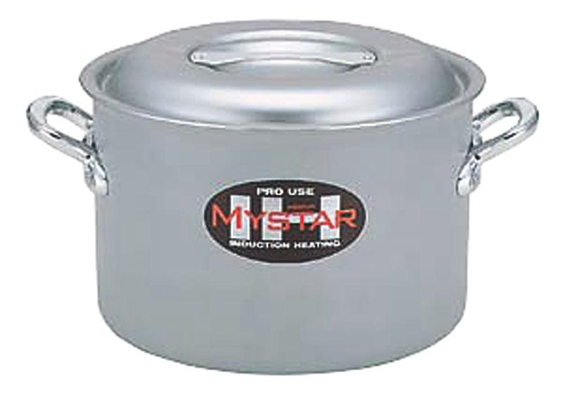 業務用 IH 対応 半 寸胴鍋 42cm(38.0L) オール熱源 対応 日本製 国産