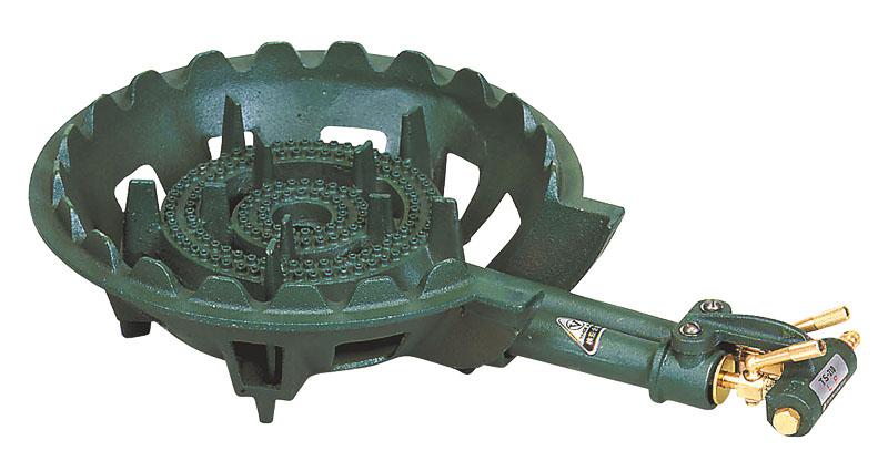 10%OFFクーポン有 業務用 鋳物 ガス コンロ TS-210P ガスタイプ ( LPG /プロパンガス) 安心の 日本製