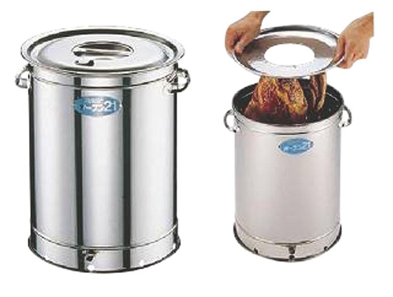 [期間限定クーポン付] 日本製 本格派 ステンレス製 円筒型 スモーカー ( 燻製機 ・ 燻製器 ) キャンプ ・ アウトドア に最適! 手軽に本格的な 燻製 調理が楽しめます 業務用 可