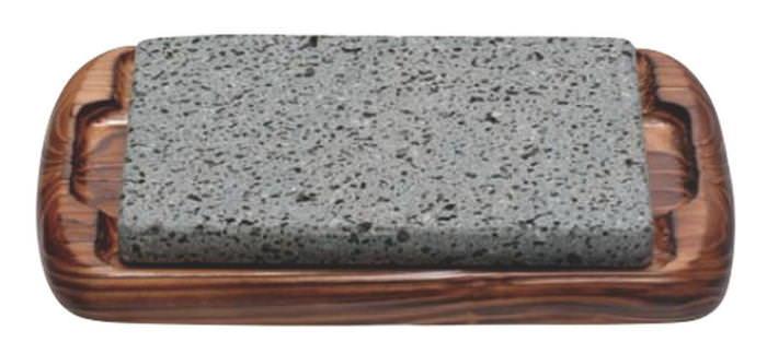 日本製 富士 溶岩 プロ仕様 石焼き ステーキ セット ナチュラル 中