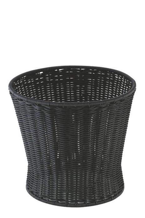 [まとめ買い 限定クーポン付] おしゃれ で かわいい 洗えて 衛生的 食品 & 小物 丸型 ベース バスケット ブラック 食洗機対応 φ510(φ400)mm