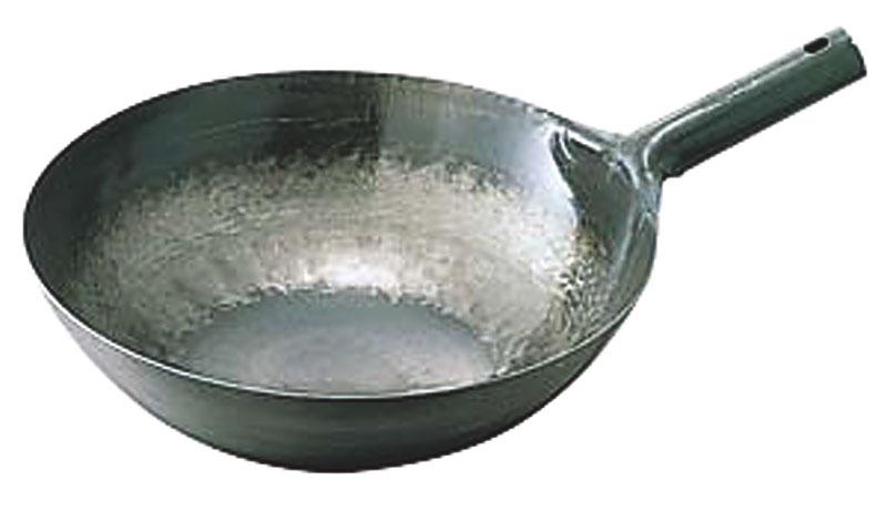 クーポンで23%OFF 中華 鍋 鉄 打出 片手 中華鍋 45cm 板厚1.6mm プロ仕様 で 業務用 に最適 鉄分 補給 日本製 国産