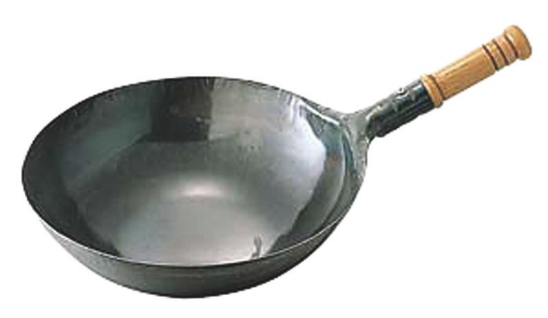 10%OFFクーポン有 中華 鍋 | 日本製 ・ 国産 | 匠の技 プロ仕様|鉄 打出 木柄 北京鍋 | 24cm|鉄分 補給