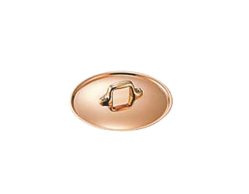 極厚 銅 製 24cm 鍋 用 つまみ蓋 ( フタ ) 真鍮柄 プロ仕様 業務用 可 日本製 国産