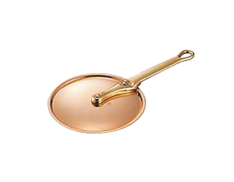 極厚 銅 製 24cm 鍋 用 ハンドル蓋 ( フタ ) 真鍮柄 プロ仕様 業務用 可 日本製 国産