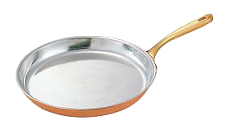 クーポンで23%OFF 銅 製 高熱伝導率 丸型 シュゼットパン 26cm プロ仕様 業務用 可 日本製 国産