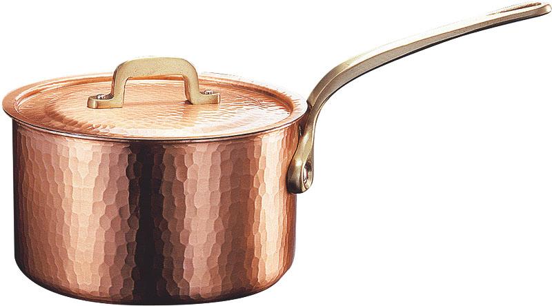 日本製 職人の 手作り こだわりの 銅製 鎚目 片手 鍋 18cm ( 2.8L ) 高 熱伝導率 業務用 可