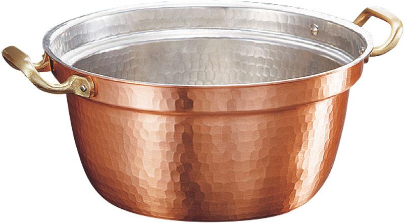 [まとめ買い 限定クーポン付] 日本製 職人の 手作り こだわりの 銅製 鎚目 段付 鍋 26cm ( 3.6L ) 高 熱伝導率 業務用 可
