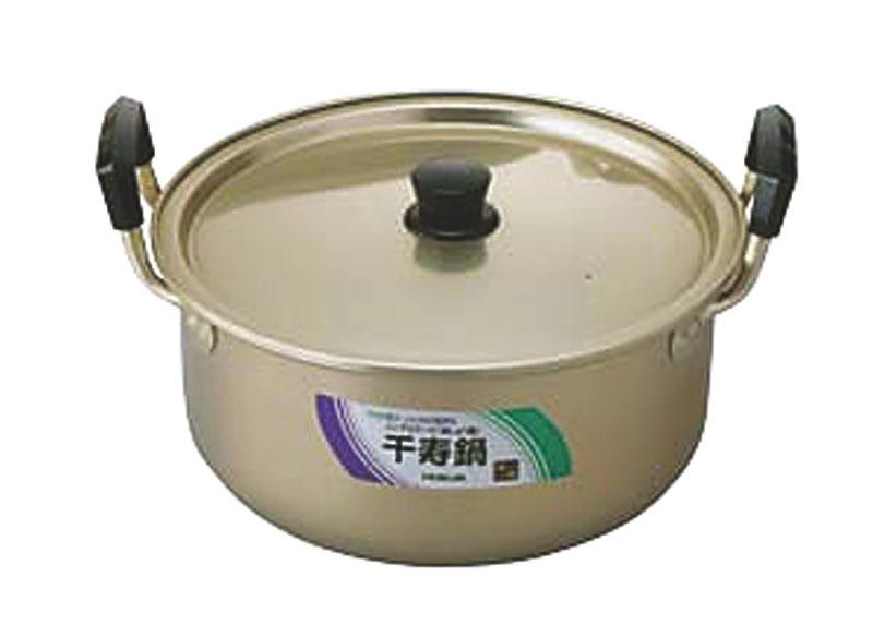 10%OFFクーポン有 日本製  昔ながらの しゅう酸アルマイト 千寿 鍋 34cm ( 14.0L ) 毎日使える 軽くて使い勝手抜群 業務用 可