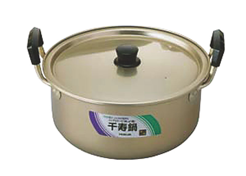 クーポンで23%OFF 日本製  昔ながらの しゅう酸アルマイト 千寿 鍋 40cm ( 21.0L ) 毎日使える 軽くて使い勝手抜群 業務用 可