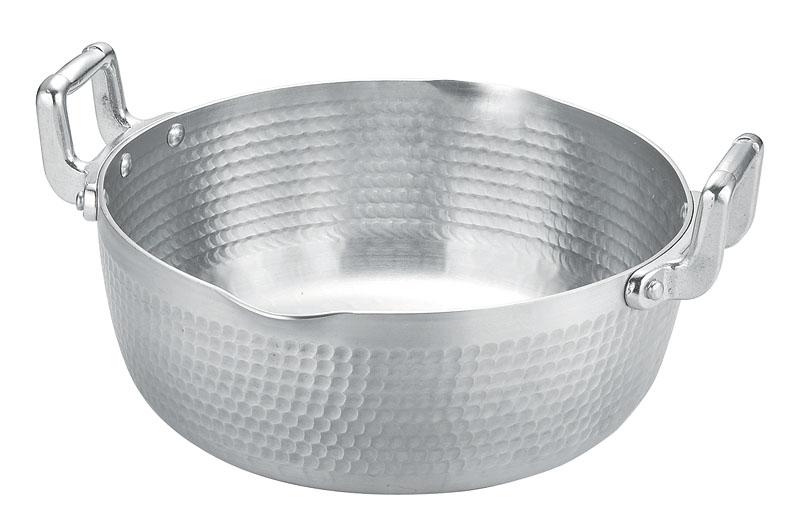 10%OFFクーポン有 日本製  定番 アルミ 製 両手 ゆきひら 鍋 30cm ( 6.3L ) 毎日使える 軽くて使い勝手抜群 業務用 可