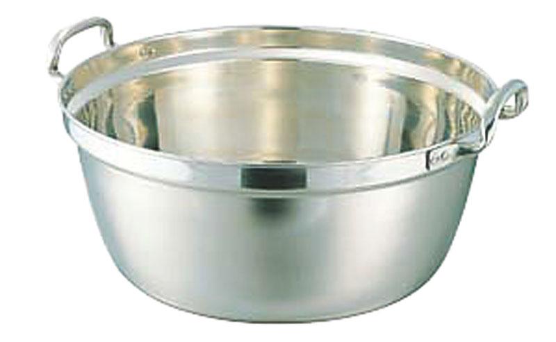 クーポンで23%OFF 日本製 18-8 ステンレス 採用 両手 料理 鍋 51cm ( 35.5L )   耐食性 ・ 保温性 抜群 プロ仕様 業務用 可