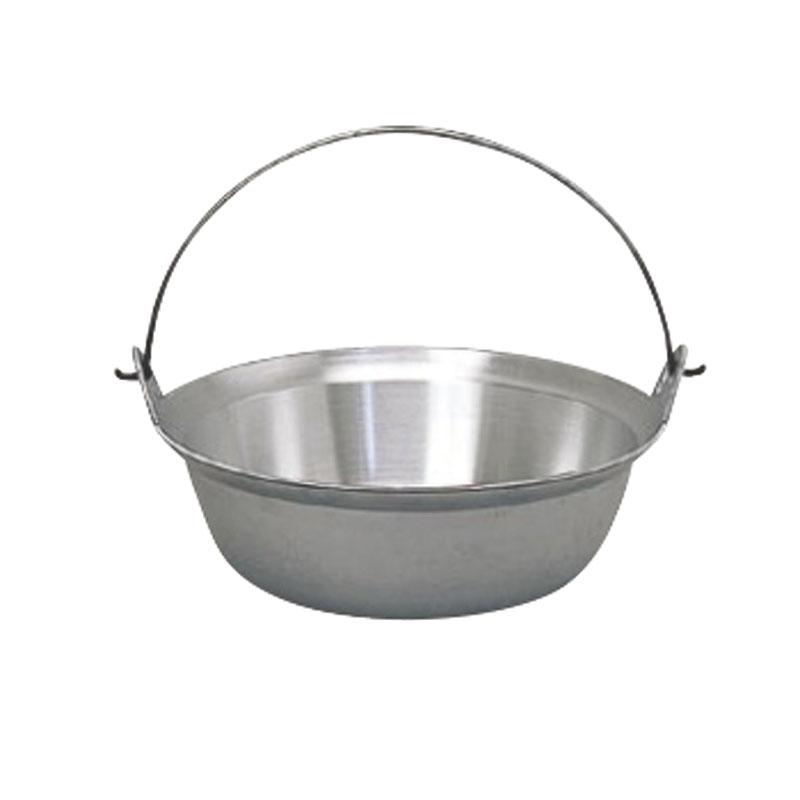 日本製 アルミ 鋳物 ツル付 段付 料理 鍋 42cm  軽量 ・ 高熱伝導率 ・ 耐腐食性 抜群 プロ仕様 業務用 可