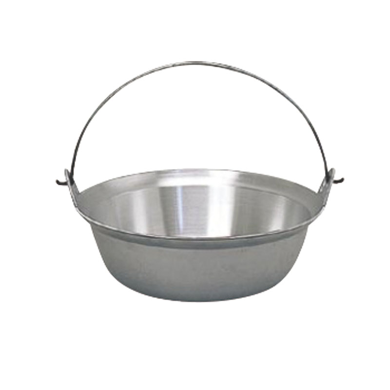 クーポンで23%OFF 日本製 アルミ 鋳物 ツル付 段付 料理 鍋 45cm  軽量 ・ 高熱伝導率 ・ 耐腐食性 抜群 プロ仕様 業務用 可