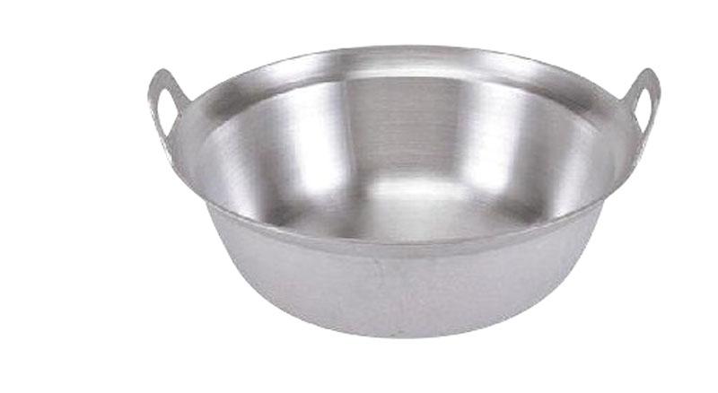 日本製 アルミ 鋳物 両手 段付 料理 鍋 54cm  軽量 ・ 高熱伝導率 ・ 耐腐食性 抜群 プロ仕様 業務用 可