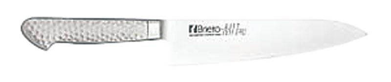 日本製 最高級 モリブデン バナジウム鋼 割込 プロ仕様 牛刀 包丁 ( 両刃 ) 刃渡り 180mm 最新技術製法 業務用 可