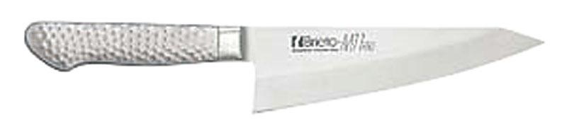 日本製 最高級 モリブデン バナジウム鋼 割込 プロ仕様 ガラスキ 包丁 ( 片刃 ) 刃渡り 180mm 最新技術製法 業務用 可