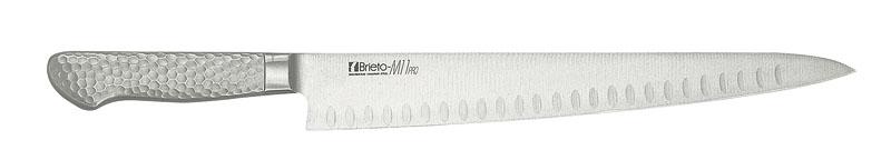 日本製 最高級 モリブデン バナジウム鋼 割込 プロ仕様 サーモンンスライサー  刃渡り 240mm 最新技術製法 業務用 可
