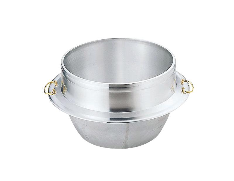 日本製 3.3升 炊き 羽釜 カン付 30cm 熱伝導率の良い アルミ鋳物 製 炊飯 ・ 茹で釜としても使える! 業務用 可