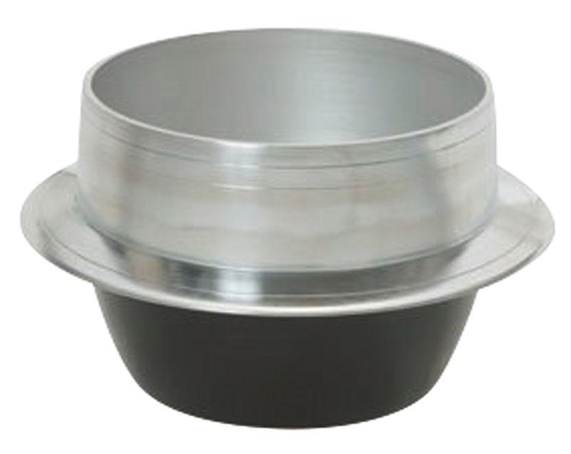 熱伝導率の良い アルミ鋳物 製 羽釜 20cm  炊飯 ・ 茹で釜としても使える! 業務用 可 日本製
