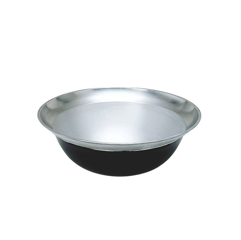 [まとめ買い 限定クーポン付] 熱伝導率の良い アルミ鋳物 製 大型 平釜 48cm ( 18L ) 災害時 の 炊き出し や 野外 イベント に!  業務用 可 日本製