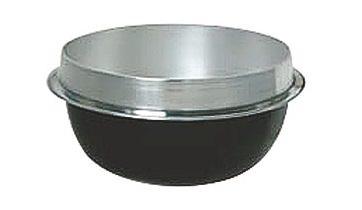 熱伝導率の良い アルミ鋳物 製 ツバ付 そば釜 52cm ( 42L ) そば などの 麺類 を美味しく茹でる事ができる専用釜 ( 鍋 ) 業務用 可 日本製