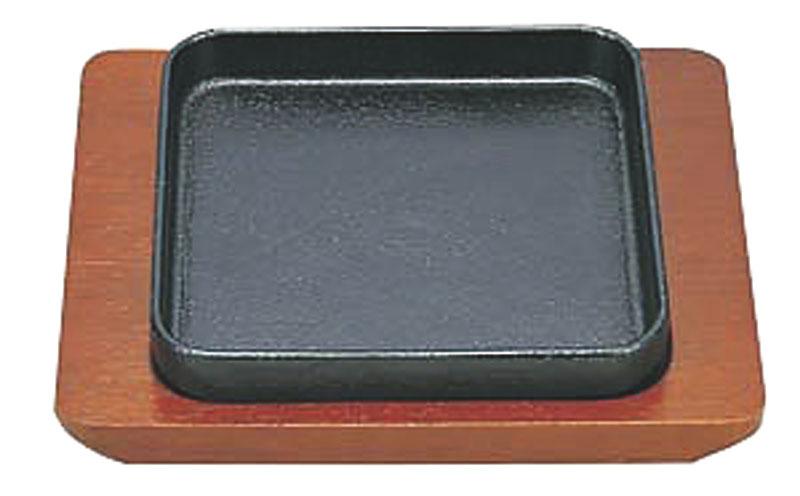 10%OFFクーポン有 日本製 IH対応 ぎょうざ皿  鉄 皿 15cm 角型 高 蓄熱性 自宅でも使える プロ仕様  焼そば ・ チャーハン にも! 業務用 可