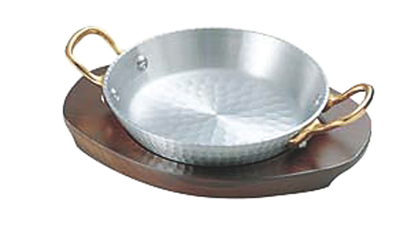 日本製 厚板 アルミ 材採用 パエリア 両手 鍋 24cm 高 熱伝導率 高 蓄熱性 自宅でも使える プロ仕様 アウトドア でも大活躍! 業務用 可