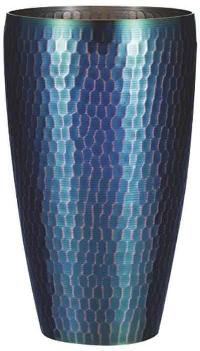 美味しい温度をキープ! おしゃれな 銅 製 槌目 タンフ゛ラー 青被 大 国産 日本製