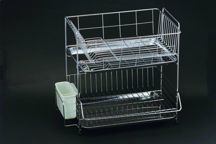 クーポンで23%OFF 食器 の 水切り に 2段式水切りラック 18-8ステンレス 製 国産 日本製