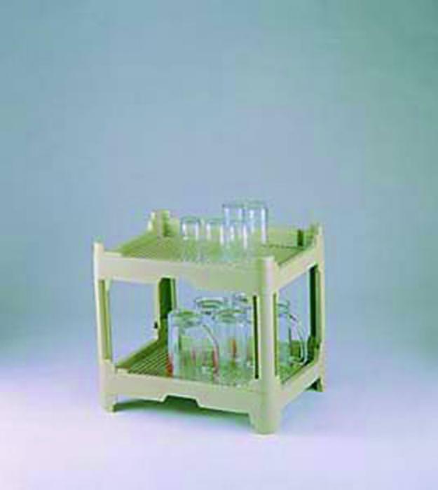 [期間限定クーポン付] 食器 の 水切り システム ウォーター コランタ゛ー足付2段 大 175mm グリーン 日本製