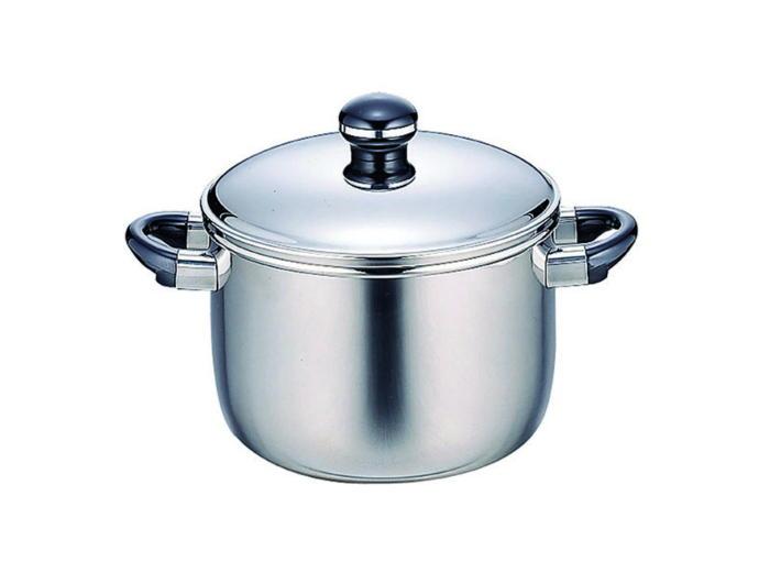 鍋 全面鉄芯3層鋼 オブジェ 両手鍋 深型 IH対応 25cm 国産 日本製