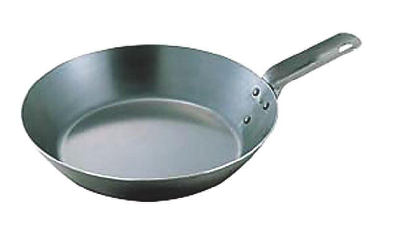 鉄 フライパン 持ち手が短い オーブンで使える IH対応 鉄分補給 向い取っ手 40cm 国産 日本製