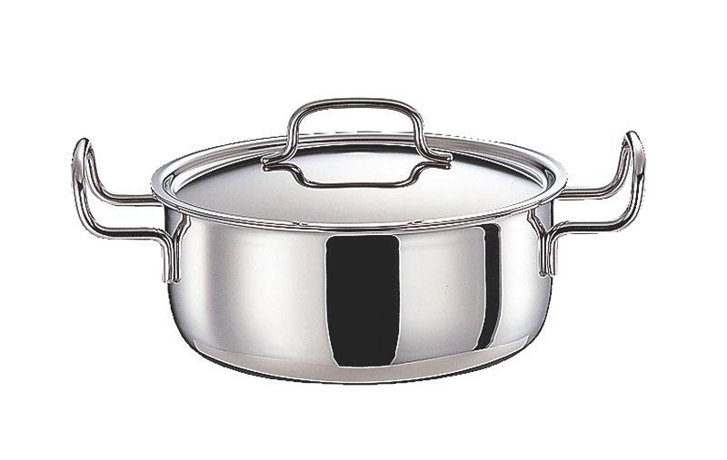 クーポンで23%OFF 鍋 ステンレス多層鍋 ジオ・プロダクト IH 対応 余熱調理 無水調理 両手鍋 14cm 国産 日本製
