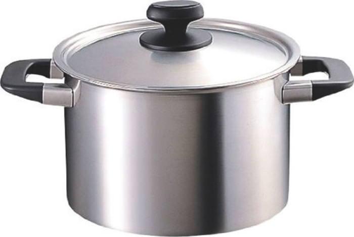 鍋 ステンレス製 サスティナ 優れた耐久性 両手鍋 深型 IH対応 25cm 国産 日本製
