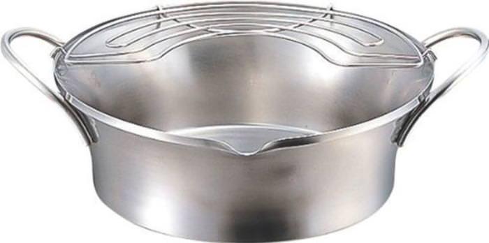 鍋 ステンレス製 サスティナ 優れた耐久性 天ぷら鍋 IH対応 24cm 国産 日本製