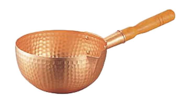 パン 製菓 お菓子 ケーキ 作りに 熱伝導率の優れる 銅 製 ボーズ鍋 18cm (1.6L) プロ仕様 業務用 可 国産 日本製