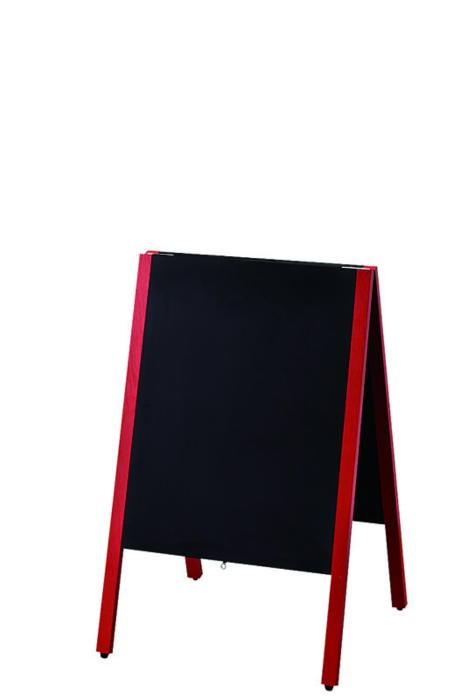 店舗備品 ・ 事務用品赤枠 スタンド 黒板 マーカー・チョーク兼用 スタンド 黒板 国産 日本製