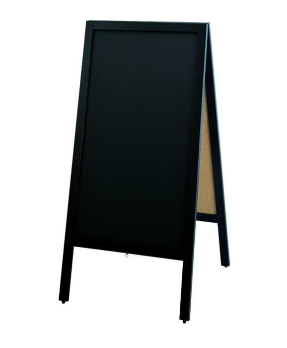 店舗備品 ・ 事務用品和風タイフ゜ スタンド 黒板 (両面黒板) チョーク用 国産 日本製