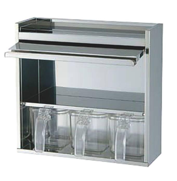 クーポンで23%OFF 薬味入れ ステンレス製 ヤクミ入 錆びにくい 棚付 3ヶ入 国産 日本製
