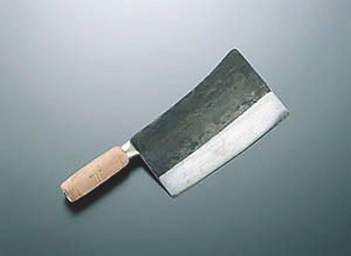 中華包丁 鋼材 陳枝記 切れ味が良い クァウコンチョッパー KF1402 18cm(丸江刀2号)