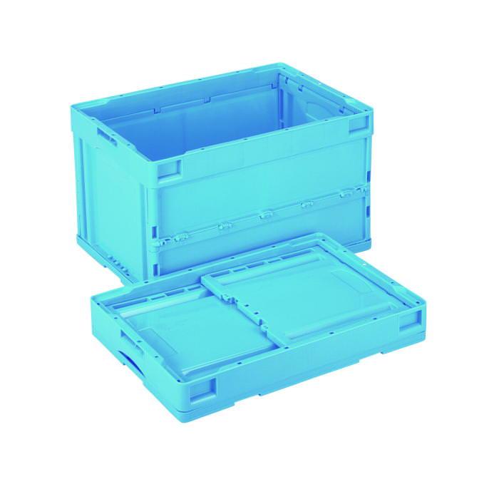 [5の付く日 限定クーポン付] コンテナー プラスチック製 折りたたみコンテナー CB-S51NR ブルー 国産 日本製
