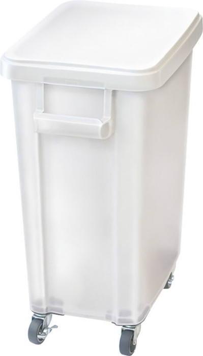 厨房用キャスターペール プラスチック製 排水栓付 45L ナチュラル 国産 日本製
